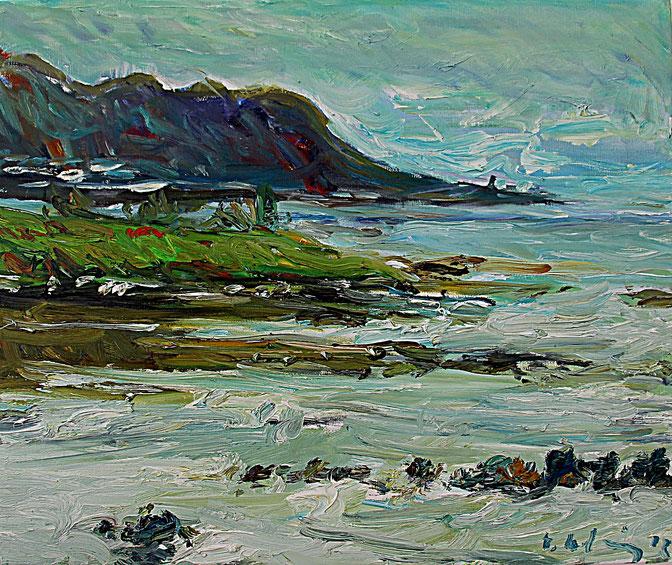 Küste bei Runde   2012, Öl auf LW, 46 cm x 55 cm