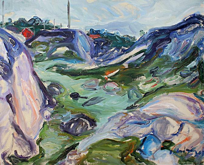 Nordnorwegen   1968, Öl auf LW, 60 cm x 73 cm