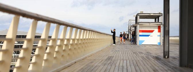 Auf dem Pier von Scheveningen