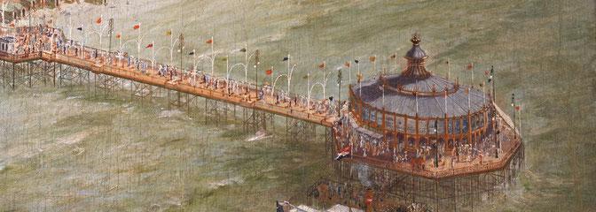 Historisches Bild vom Pier von Scheveningen