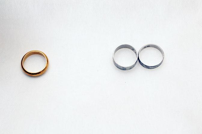 指輪リフォーム前 使わないジュエリーを復活させます