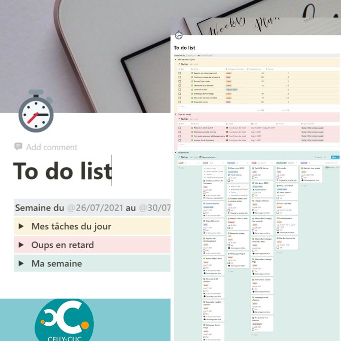 notion organisation de la to do list