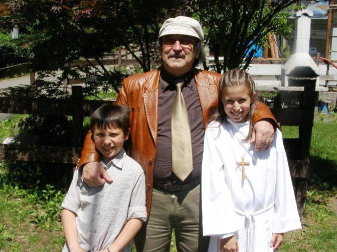 Io con Filippo e Giulia