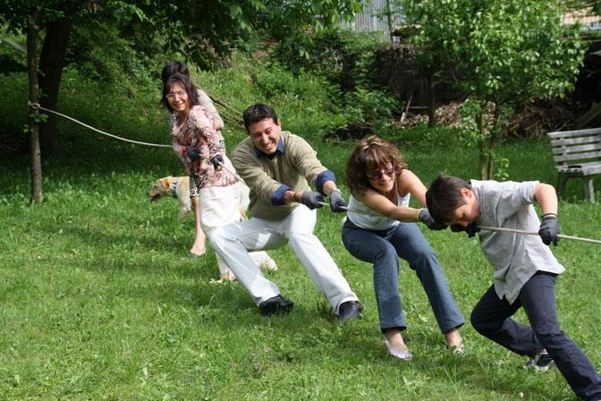 Da sinistra: Barbara. Davide, Cristina, Filippo.