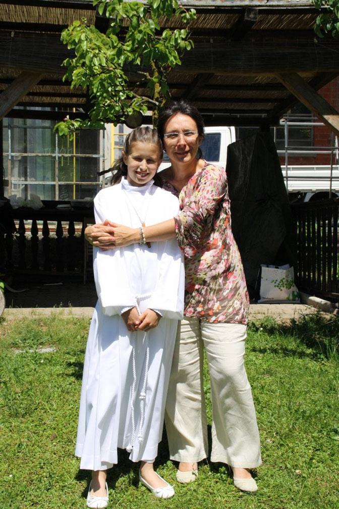 Giulia con mia figlia Barbara - Julia con mi hija Barbara - Giulia with my daughter Barbara.