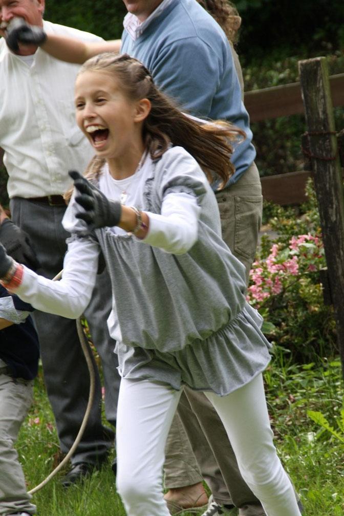 Giulia esultante per la vittoria. Julia exultante por la victoria.  Julia exulting for victory.