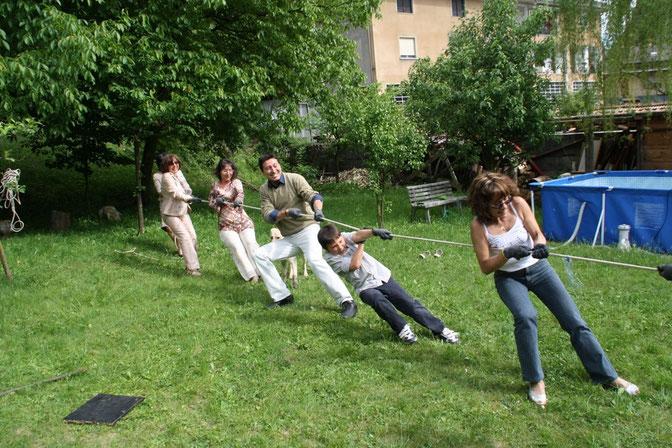 Da sinistra; Renata, Barbara, Davide, Filippo, Cristina.