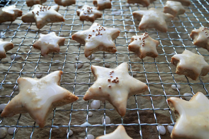 Kekse mit Birnen- oder Apfelmus