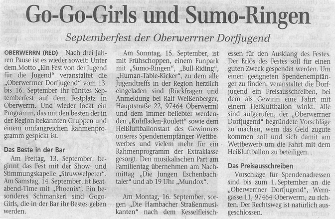 18.07.2002 Schweinfurter Tagblatt