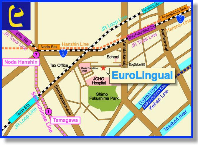Access Map of EuroLingual-Fukushima