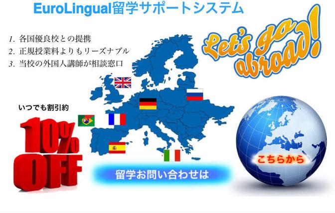 EuroLingual留学サポートシステム、Euro-Lingual, 大阪, 梅田