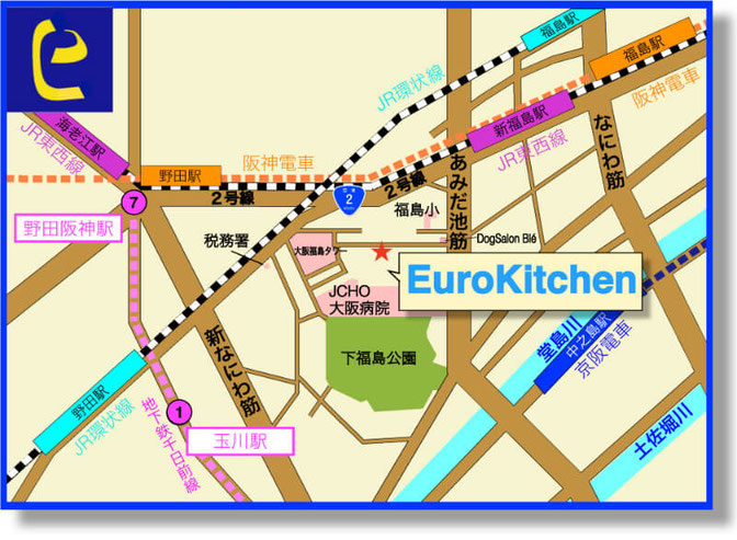 EuroKitchenアクセス 地図
