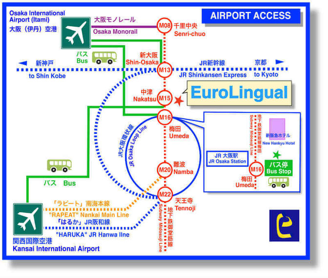 Airport Access Map EuroLingual