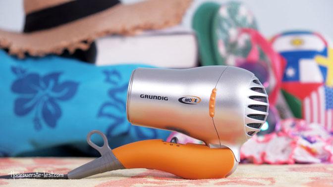 Mini-Fön: Grundig HD 2509 Sport- und Reisehaartrockner 1500 Watt