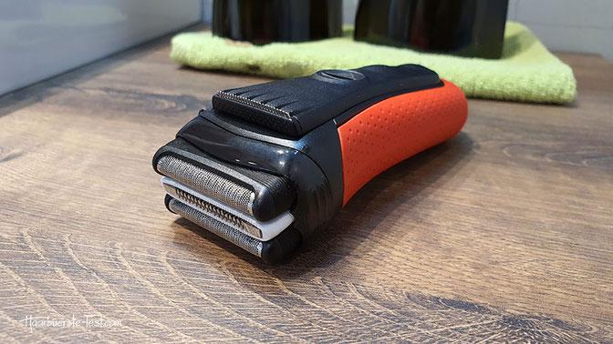 braun series 3 3050 red trockenrasierer mit reinigungsstation
