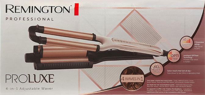 Verpackung Remington Welleneisen Proluxe 4-in-1 Adjustable Waver