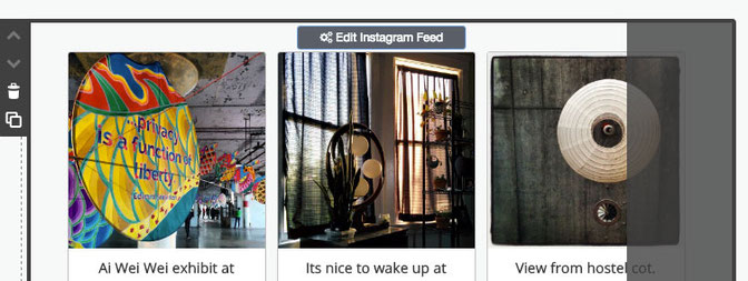 How to add an instagram feed to your website jimdo support center a new instagram feed will appear click the edit instagram feed button to open the powr editor this button will appear in both edit and view modes ccuart Choice Image