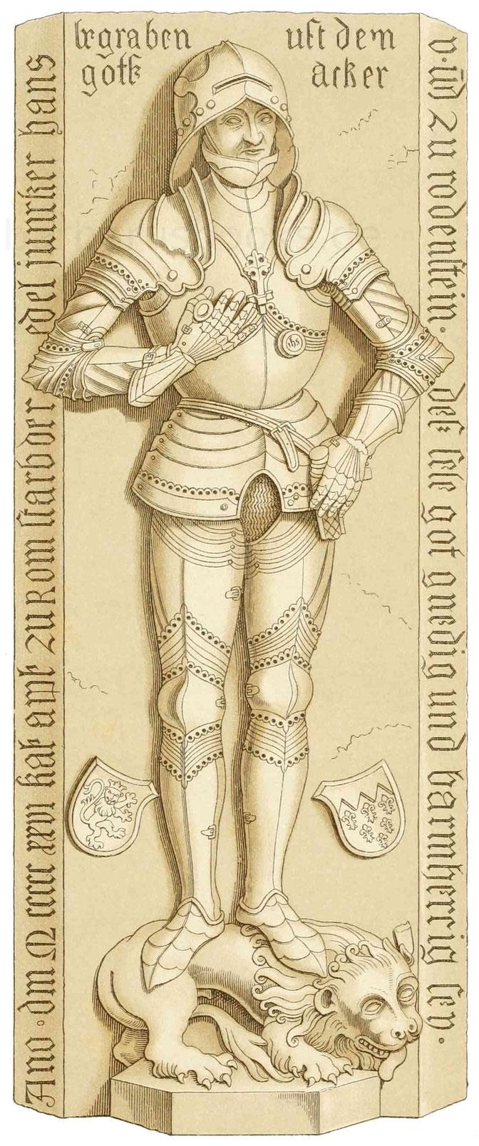 Grabdenkmal des Ritter Hans von Rodenstein (gest. 1526)