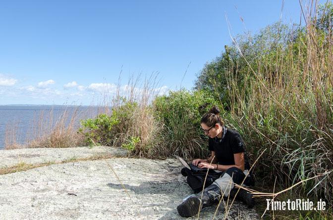 Uruguay - Südamerika - Reise - Motorrad - Honda Transalp - Reisebericht aktualisieren - Ufer der Laguna Negra