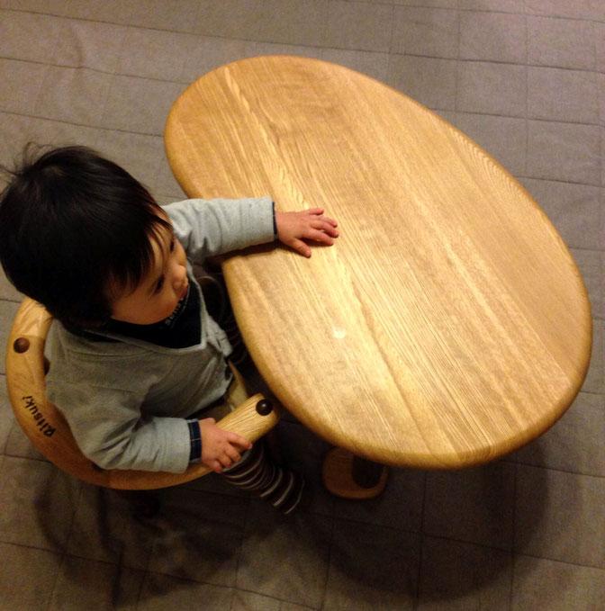 U字の子供椅子&豆型テーブル(神戸市・W様)