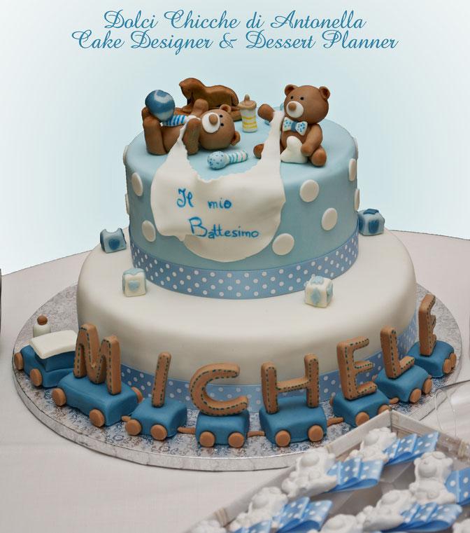 torta battesimo-orsetti-confettate-bomboniere-gessi profumati-la spezia-dolci-bimbi