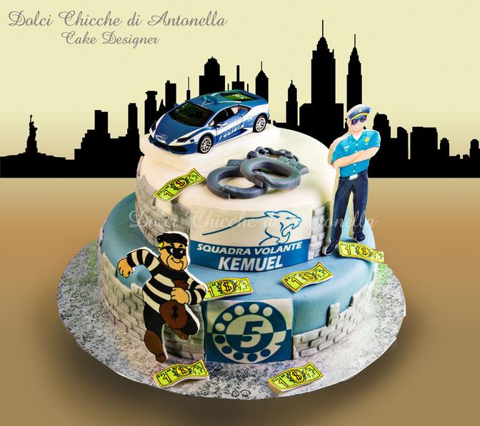 torta polizia-cake police-compleanno-dolci-pasticceria-la spezia-liguria-sarzana