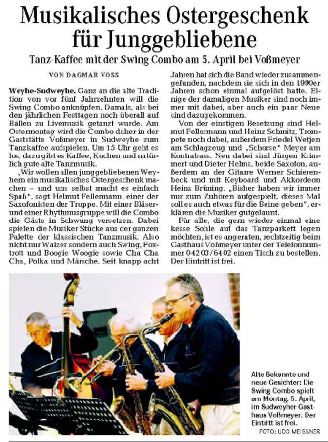 Weser-Kurier vom 27. 3 2010