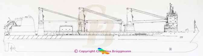 Zeichnung Schwergutschiffe Typ 176 Trina und Regine, SAL Heavy Lift