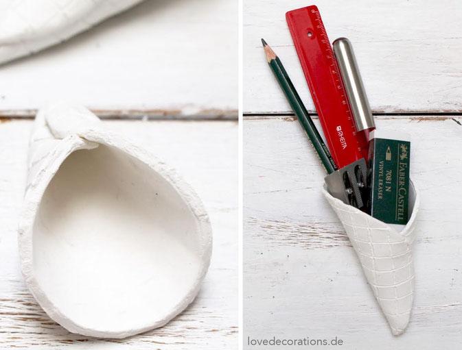 DIY Eiswaffeln aus Fimo - ideal als Geschenkverpackung zum Schulanfang