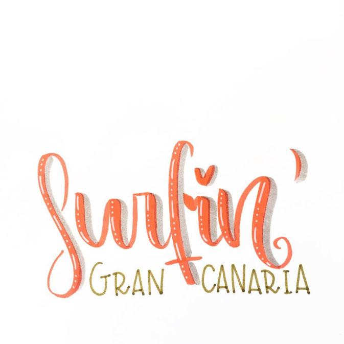 Letter Lovers - fraeulein.hoffmann - Handlettering Surfin Gran Canaria