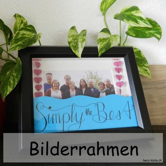 Geschenk zum Vatertag: Bilderrahmen mit Handlettering Simply the Best