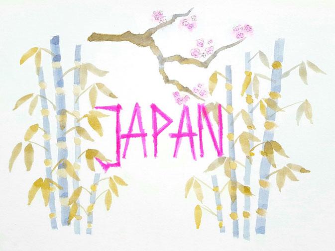 LetterLovers fraulitzi: Lettering mit Kosmetikschwämmchen - Japan