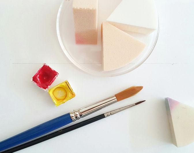 Letter Lovers Fraulitzi: Anleitung mit Kosmetikschwämmchen