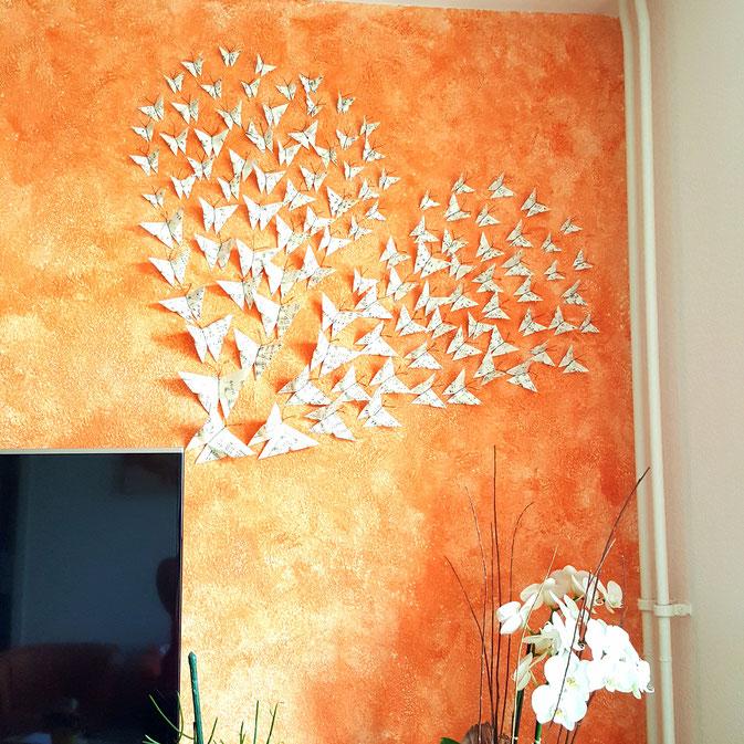 12 von 12 September - Wanddekoration mit Schmetterlingen