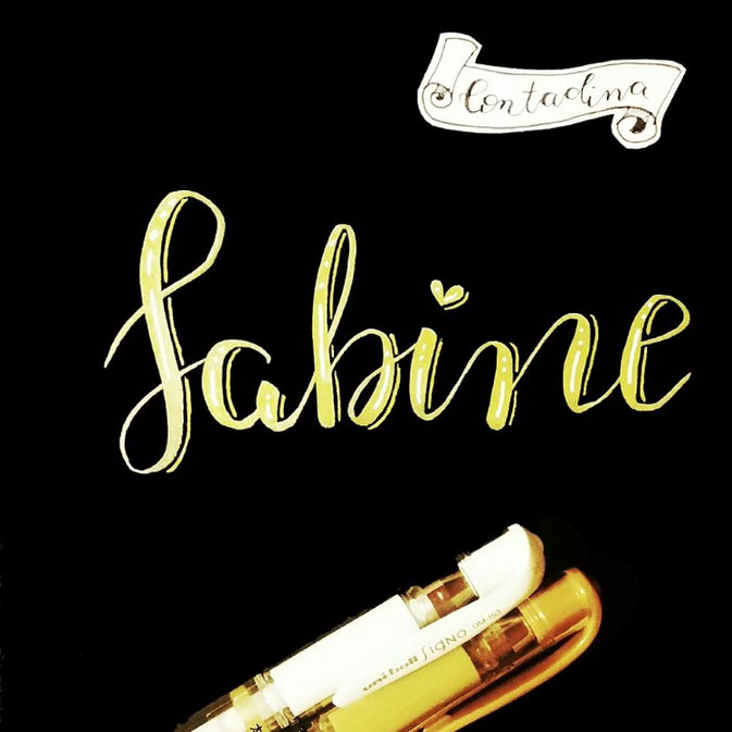 Letter Lovers: Contadinasway Handlettering Sabine