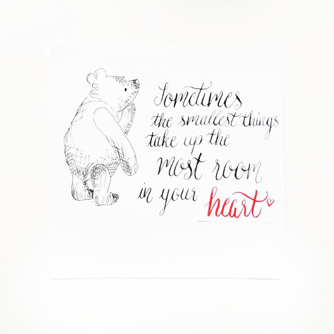 Letter Lovers larakraft: Handlettering sometimes the smallest things take up the most room in your heart