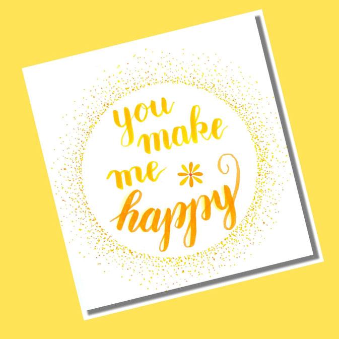 Letter Lovers fraulitzi: Handlettering you make me happy