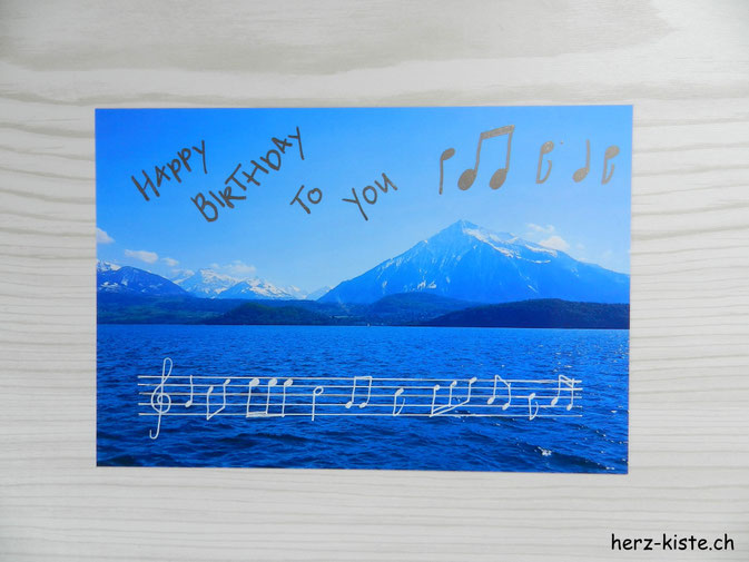 Happy Birthday Geburtstagskarte selber machen