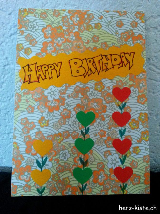 Geburtstagskarte Happy Birthday: Einfach und schnell gemacht