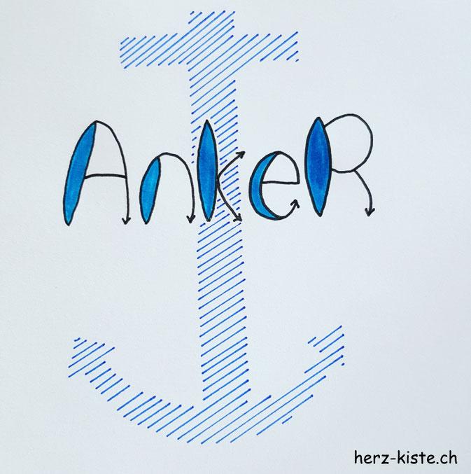 Lettering: Anker