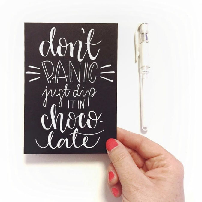 Letter Lovers frau_mesas: Handlettering don't panic just dip in chocolate