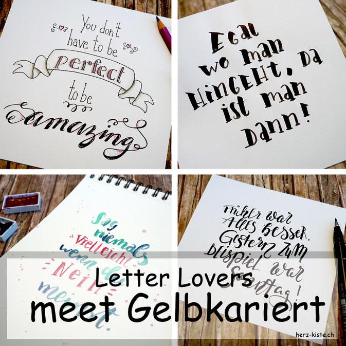 Letter Lovers: Gelbkariert zu Gast - Titelbild