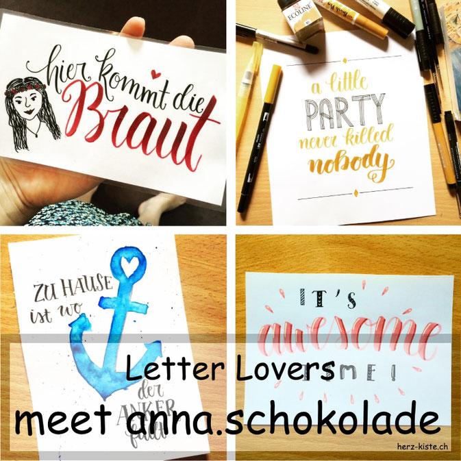Letter Lovers - anna.schokolade zu Gast