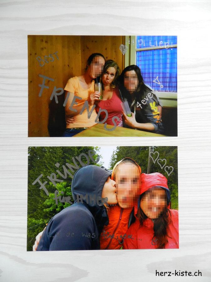 Postkarten an Freundinnen