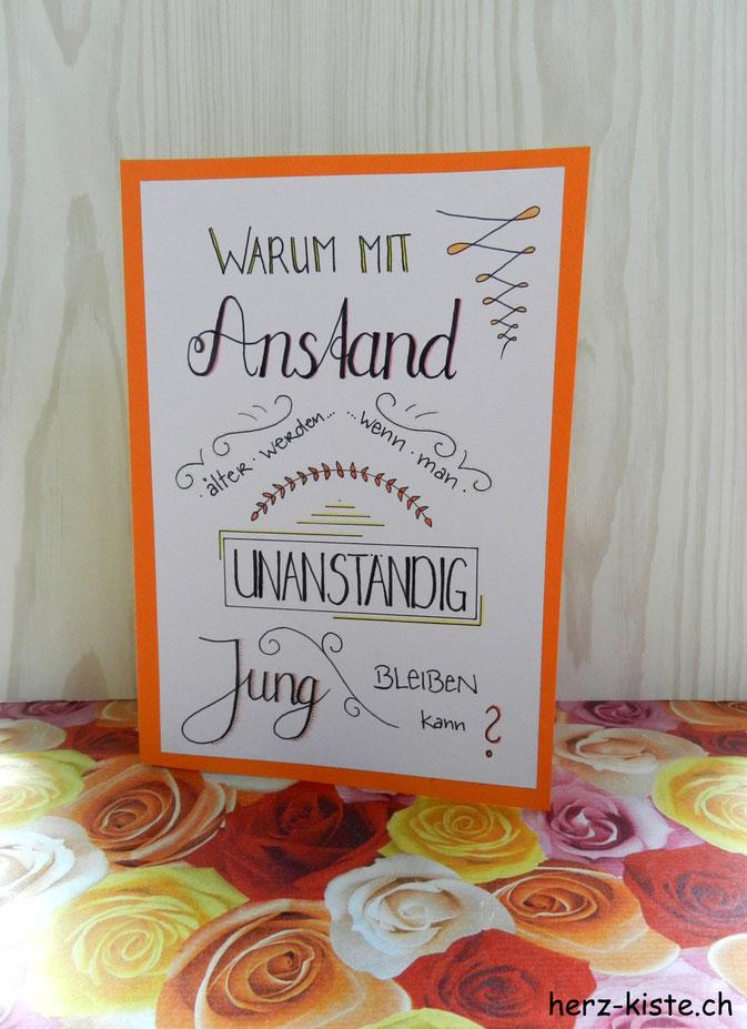Geburtstagskarte lettern