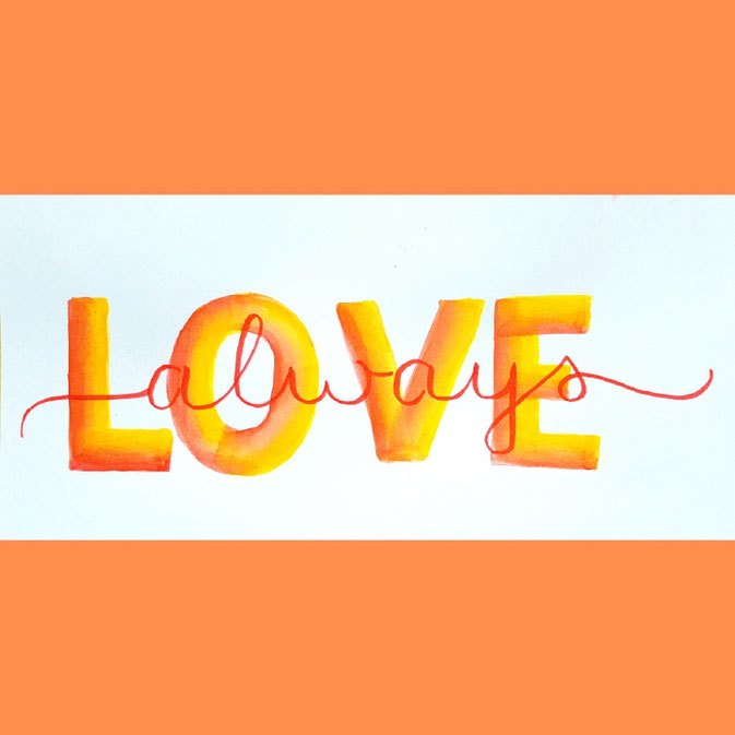 Letter Lovers Fraulitzi: Handlettering Love always