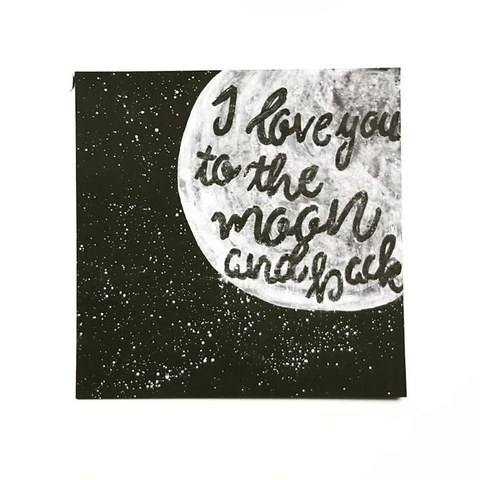 Letter Lovers Larakraft: Handlettering I love you to the moon and back