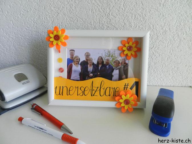 Muttertagsgeschenk: Ein Lettering mit Foto