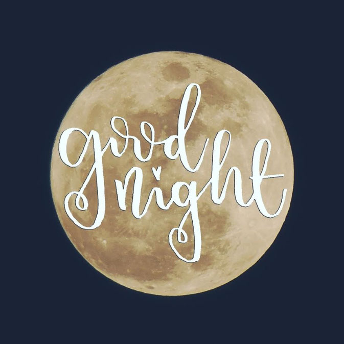 Letter Lovers frau_mesas: Handlettering good night