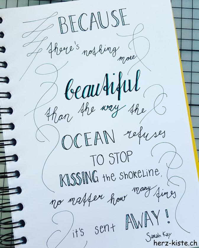 Handlettering - Spruch von Sarah Kay
